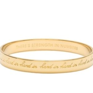 Kate Spade Bangle Bracelet Strength in Numbers